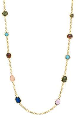 """Kate Spade Scatter Multicolor Stone Station Necklace, 39"""""""