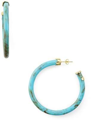 Argentovivo Marbleized Hoop Earrings