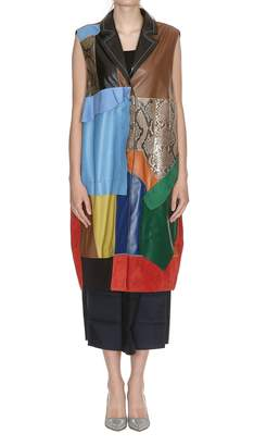 Marni Patchwork Leather Vest