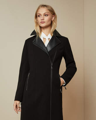 Ted Baker BYYRA Collared biker coat