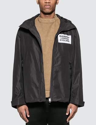 Burberry Detachable Hood Taffeta Jacket