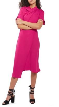 Women's Topshop Origami Drape Neck Midi Dress $110 thestylecure.com