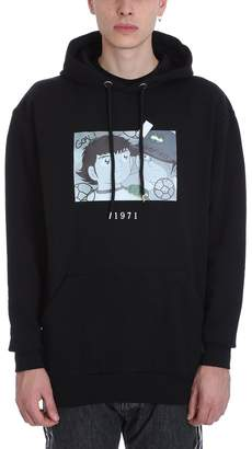 Throw Back Holly Black Cotton Hoodie