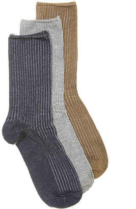 Kelly & Katie Ribbed Crew Socks - 3 Pack - Women's