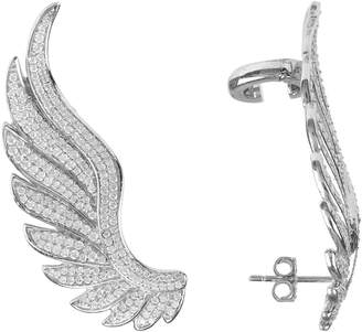 Latelita London - Gabriel Angel Wing Ear Climber Silver