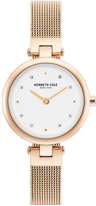 Kenneth Cole New York Ladies Rosegold Tone Mesh Bracelet Watch 28mm