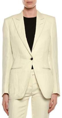 Tom Ford Viscose/Linen One-Button Jacket