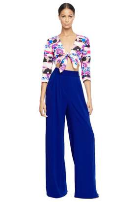 Milly Modern Print Tie Front Shirt