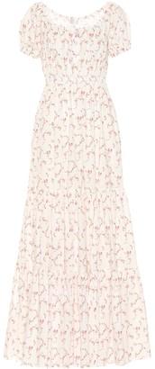 Caroline Constas Bardot stretch cotton maxi dress
