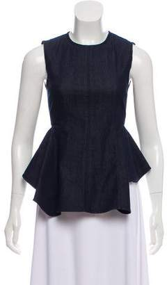 Theory Denim Peplum Top