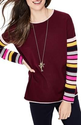 Boden Berwick Stripe Sleeve Sweater