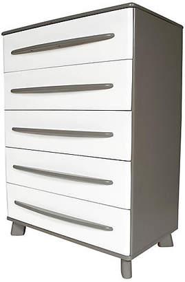 One Kings Lane Vintage Grey & White Painted Tall Dresser - 2-b-Modern
