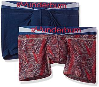 Rounderbum Men's Package Lift Boxer Brief 2 Pair Pack