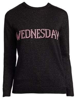 Alberta Ferretti Rainbow Week Capsule Days Of The Week Wednesday Lurex Sweater