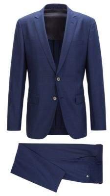 BOSS Hugo Wool Silk Suit, Slim Fit Helford/Gander 46R Blue