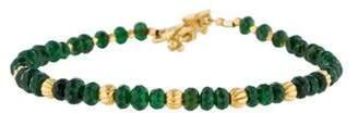 Laura Gibson 22K Chrome Diopside Bead Bracelet