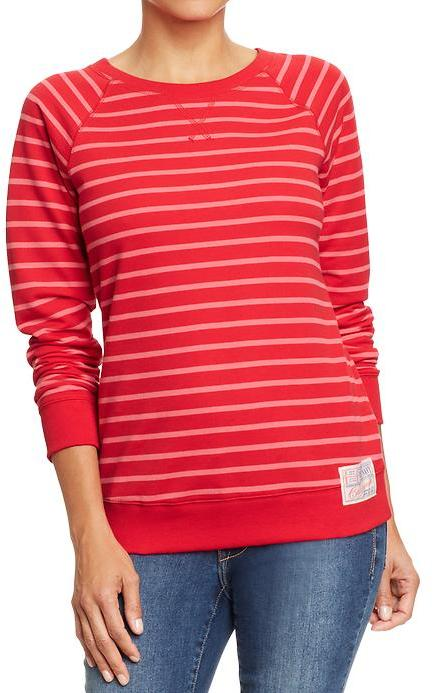 Old Navy Women's Terry-Fleece Crew-Neck Tops
