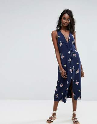 Majorelle Twist Front Dress