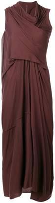 Rick Owens Lilies asymmetrical midi dress