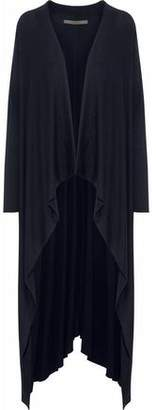 Enza Costa Draped Ribbed Modal-Blend Cardigan