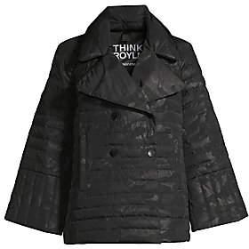 Think Royln Women's Marilyn Camo-Print Puffer Pea Coat