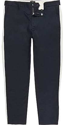 River Island Big and Tall navy skinny taped pants