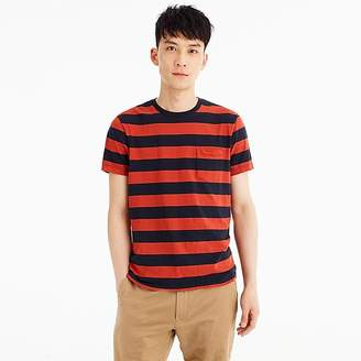 J.Crew Mercantile Broken-in T-shirt in red rugby stripe