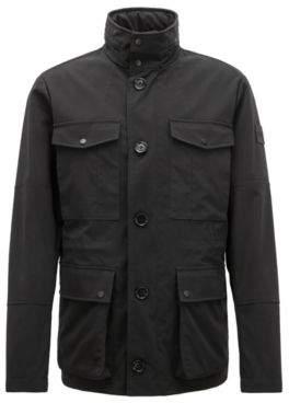 BOSS Hugo Field jacket in a water-repellent cotton 40R Black