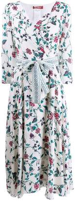 Max Mara floral print wrap dress