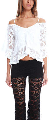 Nightcap Clothing Crochet Ruffle Blouse