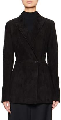 The Row Ciel Suede Blazer Jacket
