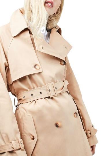 TopshopWomen's Topshop Trench Coat