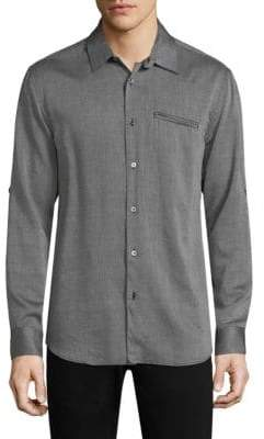 John Varvatos Roll Sleeve Button-Down