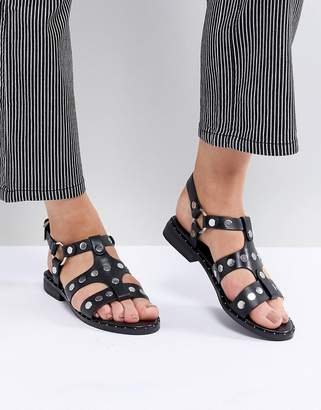 Sol Sana Gunther Black Studded Sandals