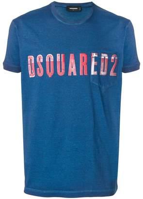 DSQUARED2 vintage embroidered logo T-shirt