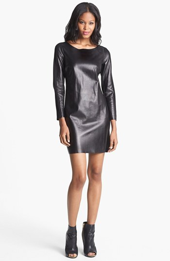 Alice & Trixie 'Lourdes' Leather & Ponte Knit Dress