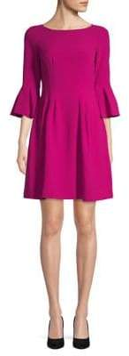 Eliza J Bell-Sleeve Fit--Flare Dress