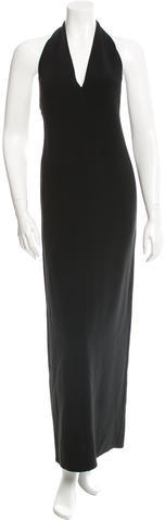 CelineCéline Wool Halter Gown