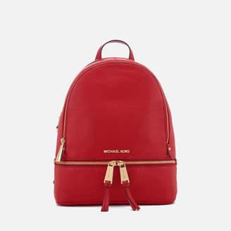 MICHAEL Michael Kors Women's Rhea Zip Medium Backpack - Bright Red