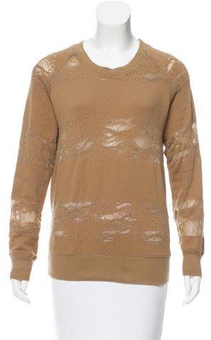 IROIro Distressed Crew Neck Sweater