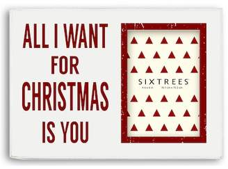 """Sixtrees Home For The Holidays Red Photo Frame - 4\"""" x 6\"""""""