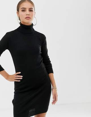 boohoo Roll Neck Jumper Dress