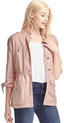 TENCEL twill utility jacket $98 thestylecure.com