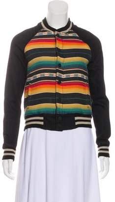 Mother Patterned Letterman Jacket