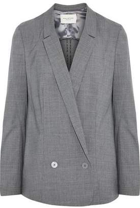 Halston Double-Breasted Wool-Blend Blazer