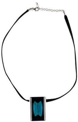 Baccarat Rectangular Crystal Pendant Necklace