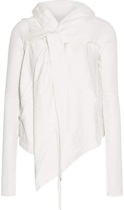 Rick Owens - Hooded Cotton-jersey Cardigan - White $595 thestylecure.com