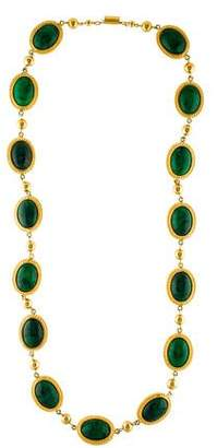 Valentino Resin Cabochon Long Necklace