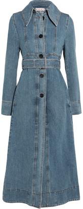 Marni - Belted Denim Coat - Blue