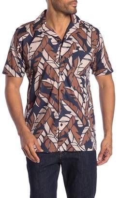 Onia Vacation Leaf Print Shirt
